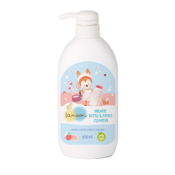 Lamoon Organic Nipple & Bottle Cleanser 500ml.