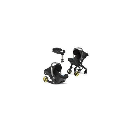 Doona from car seat to stroller in seconds Black  and  Isofix base