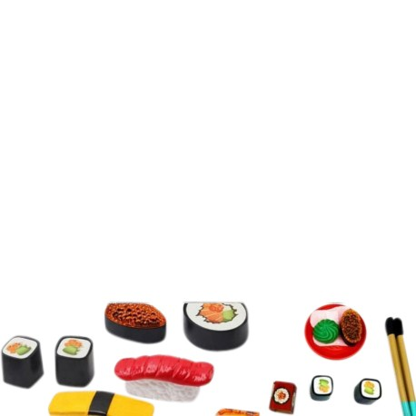 Castle of Toy Sushi Slicing Play Set