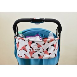 Leeya Storage Bag for Stroller - Pink Bird