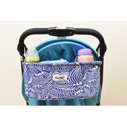 Leeya Storage Bag for Stroller - Blue Waves
