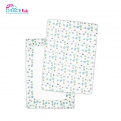 Gracekids Pooh Lets Fly a kite Bed Cover, Size XL (White) (28*40*3)