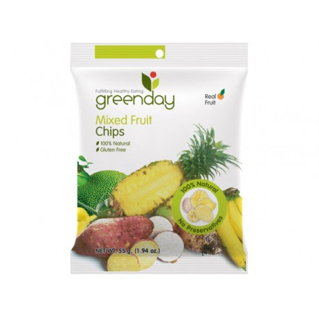 Greenday Mixed Fruit Chips 55 g.