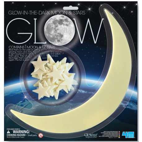 4M ของเล่น Glow In The Dark Moon Star