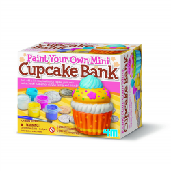 4M Paint Your Own - Mini Cupcake Bank