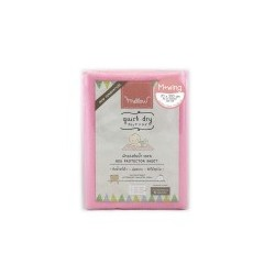 Mellow Quick dry Quick dry Pee Pads, Waterproof Fabric 100% with wings SIZE M (70x100 CM) Pink