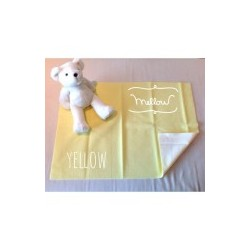 Mellow Quick dry Quick dry Pee Pads, Waterproof Fabric 100% SIZE L (100x140 CM) Yellow