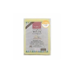 Mellow Quick dry Pee Pads, Waterproof Fabric 100% The wings are inserted under the mattress SIZE L (100x140 CM) Yellow