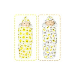 Palm & Pond Disposable Cloth Diapers 100% Cotton with hoods set 2 no.26