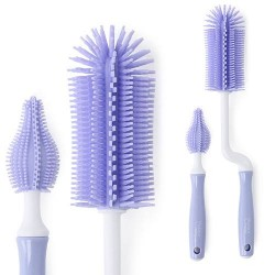 Pognae ML Bottle brush Silicone Set purple (MLB100-03)