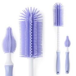 Pognae ML Bottle brush Silicone Set straight purple (MLB100-06)