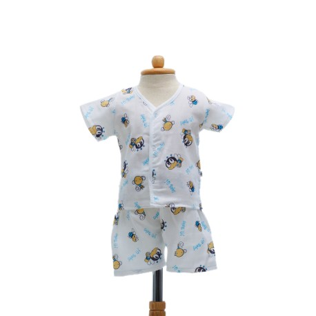 Shawn's Baby Short sleeve shirt with shorts Bee Cartoon (size M)