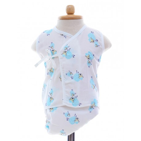 Shawn's Baby Baby Sleeveless Diaper Suite Sheep catoon