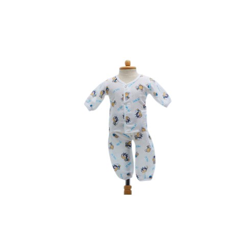 Shawn's Baby Long sleeved shirt with trousers Blue bee cartoon