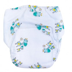 Shawn's Baby Diaper Pants Green cartoon giraffe