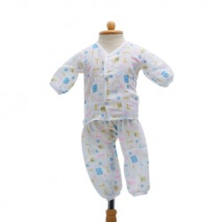 Shawn's Baby Long sleeved shirt with trousers Blue Cartoon Tool Set