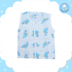 Shawn's Baby no Sleeve Shirt Sheep Cartoon (Blue)