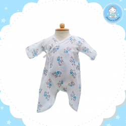 Shawn's Baby Baby Body Suite Giraffe Cartoon (Blue)