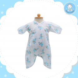 Shawn's Baby Baby Body Suite Sheep Cartoon (Blue)