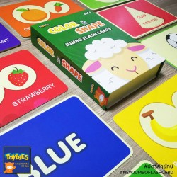Toybies New Jumbo Flash card – Color&Shapes
