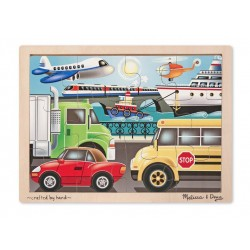Melissa and Doug Wooden Jigsaw Puzzle 12 piece Vehicles
